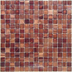 """Vicenza Mosaico Glass Tiles 3/4"""" Glass Film-Faced Sheets in Maribella"""