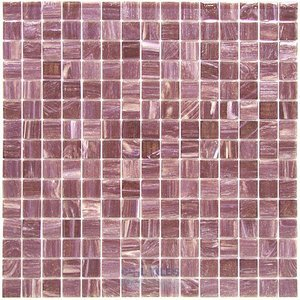 "Vicenza Mosaico Glass Tiles 3/4"" Glass Film-Faced Sheets in Nicole"