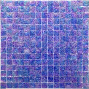 """Vicenza Mosaico Glass Tiles 3/4"""" Glass Film-Faced Sheets in Spirit Blue"""