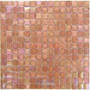 """Vicenza Mosaico Glass Tiles 3/4"""" Glass Film-Faced Sheets in Sweet Melon"""