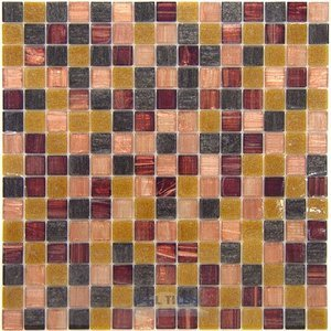 Vicenza Mosaico Glass Tiles Film-Faced Sheets in Sophistication