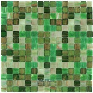 Vicenza Mosaico Glass Tiles Film-Faced Sheets in Ponder