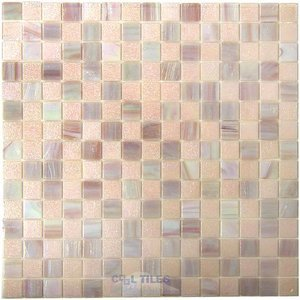 Vicenza Mosaico Glass Tiles Film-Faced Sheets in Syrup