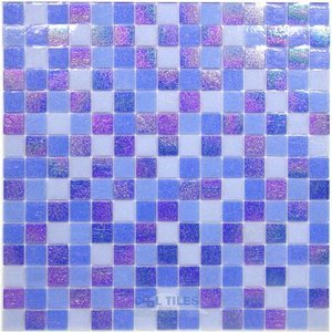 Vicenza Mosaico Glass Tiles Film-Faced Sheets in Universe