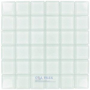"Illusion Glass Tile 1 7/8"" x 1 7/8"" Glass Mosaic Tile in Clear"