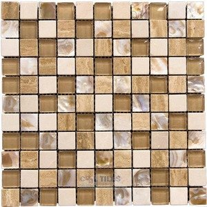 "Illusion Glass Tile 1"" Mosaic Tile in Pelican Bay"
