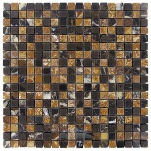 "Illusion Glass Tile 5/8"" x 5/8"" Stone Mosaic Tile in Smores"