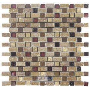 Illusion Glass Tile Stone, Glass & Metal Mosaic Tile in Tudor