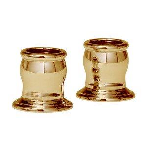 Valsan Round Shower Rod Brackets (Pair) in Polished Brass