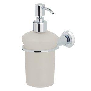Valsan Frosted Liquid Soap Dispenser in Chrome