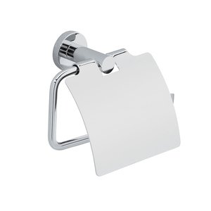 Valsan Toilet Roll Holder with Lid in Chrome