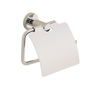 Valsan Toilet Roll Holder with Lid in Polished Nickel