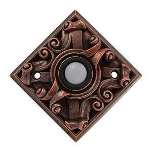 Vicenza Hardware Diamond Sforza Ornate Design in Antique Copper