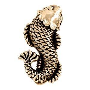 Vicenza Hardware Pollino Fish in Antique Gold