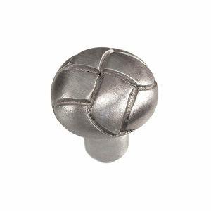 """Vicenza Hardware 1 1/8"""" Button Knob in Satin Nickel"""