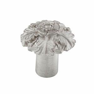 "Vicenza Hardware Small Flower Knob 1 1/16"" in Satin Nickel"