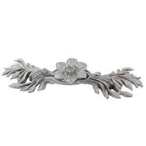"""Vicenza Hardware 3"""" Centers Hibiscus Pull in Satin Nickel"""