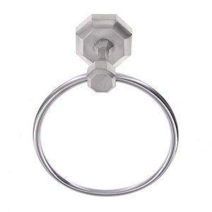 Vicenza Hardware Towel Ring in Satin Nickel