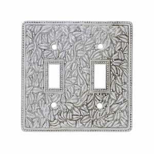 Vicenza Hardware Double Toggle Jumbo Switchplate in Satin Nickel