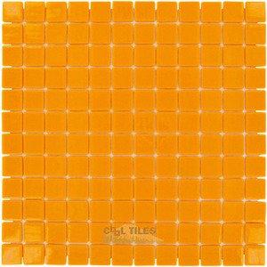 "Vidrepur 1"" x 1"" Colors Recycled Glass Tile in Orange Burst"