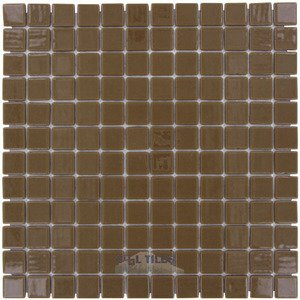 "Vidrepur 1"" x 1"" Colors Recycled Glass Tile in Milk Chocolate"