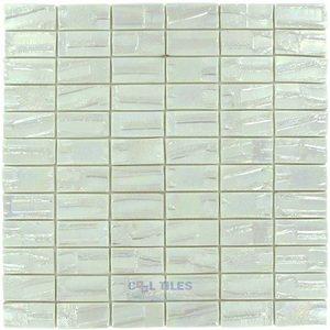 "Vidrepur 1"" x 2"" Recycled Glass Tile on 12 3/8"" x 12 3/8"" Mesh Backed Sheet in Venus"