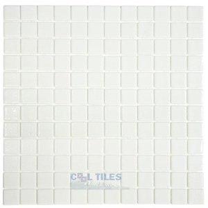 Vidrepur Recycled Glass Tile Mesh Backed Sheet in White Slip-Resistant