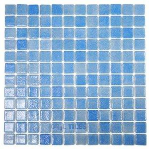 Vidrepur Recycled Glass Tile Mesh Backed Sheet in Fog Sky Blue Slip-Resistant