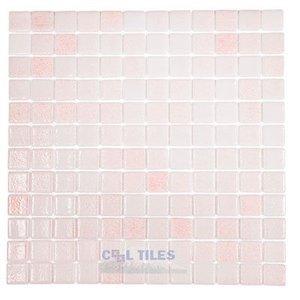 Vidrepur Recycled Glass Tile Mesh Backed Sheet in Fog Pink