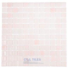Vidrepur Recycled Glass Tile Mesh Backed Sheet in Fog Pink Slip-Resistant