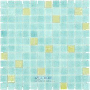 """Vidrepur 1"""" x 1"""" Color + Recycled Glass Tile in Mint Julep"""