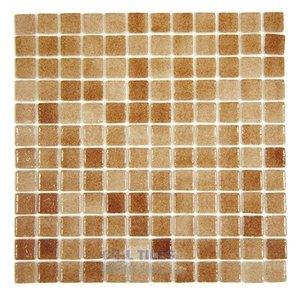 Vidrepur Recycled Glass Tile Mesh Backed Sheet in Fog Brown