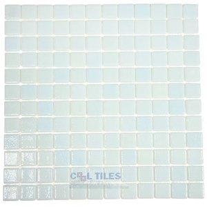 Vidrepur Recycled Glass Tile Mesh Backed Sheet in Fog Clear Sky Blue