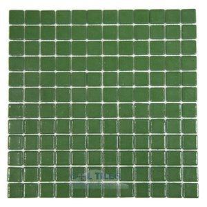 Vidrepur Recycled Glass Tile Mesh Backed Sheet in Dark Green