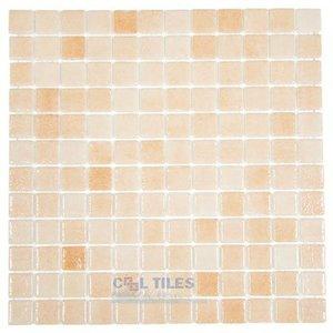 Vidrepur Recycled Glass Tile Mesh Backed Sheet in Fog Salmon