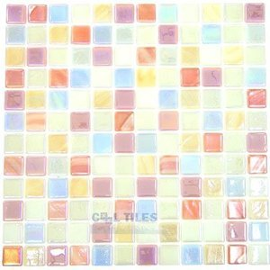 Vidrepur Recycled Glass Tile Mesh Backed Sheet in Deco 7 Iridescent