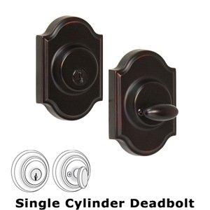 Weslock Door Hardware Premiere Single Deadbolt Lock in Oil Rubbed Bronze