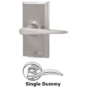 Weslock Door Hardware Universally Handed Single Dummy Lever - Woodward Plate with Urbana Door Lever in Satin Nickel