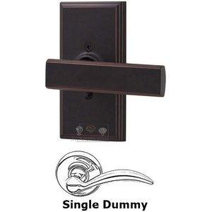 Weslock Door Hardware Universally Handed Single Dummy Lever - Woodward Plate with Utica Door Lever in Oil Rubbed Bronze