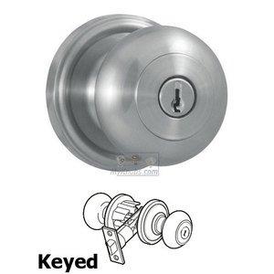 Weslock Door Hardware Impresa Keyed Door Knob in Satin Chrome