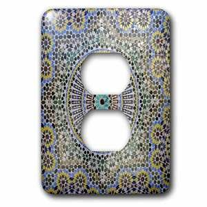 Jazzy Wallplates Single Duplex Switch Plate With Mosaic Wall For Fountain