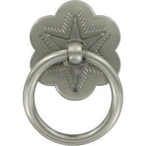 "Wild Western Hardware 1 3/4"" Diameter Ring Pull in Satin Nickel"