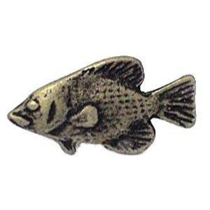 Wild Western Hardware Fish Knob in Tumbled Pewter