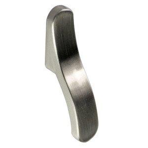 """Zen Designs 2"""" (50mm) Elongated Knob in Brushed Nickel"""