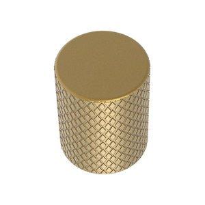 """Zen Designs 3/4"""" Daimeter Granado Diamond Knurled Knob in Champagne Bronze"""