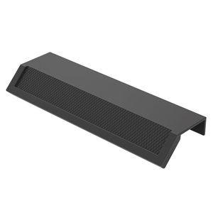 "Zen Designs 3 3/4"" (96mm) Centers 45 Degree Textured Edge Pull in Matte Black"