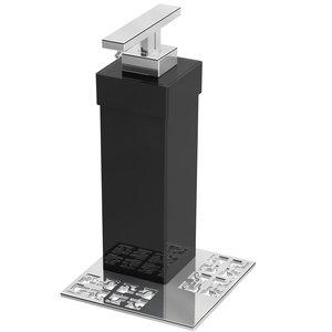 "Zen Designs Soap Dispenser W 4"" x D 4"" x H 7 3/16"" in Black"