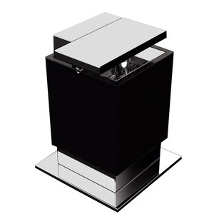 "Zen Designs Soap Dispenser W 3 1/2"" x D 3 3/4"" x H 4 3/4"" in Black"