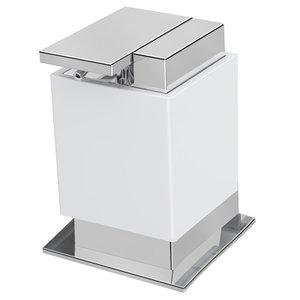 "Zen Designs Soap Dispenser W 3 1/2"" x D 3 3/4"" x H 4 3/4"" in White"