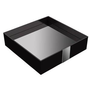 "Zen Designs Square Tray W 8 5/8"" x D 8 5/8"" x H 2 1/8"" in Black"